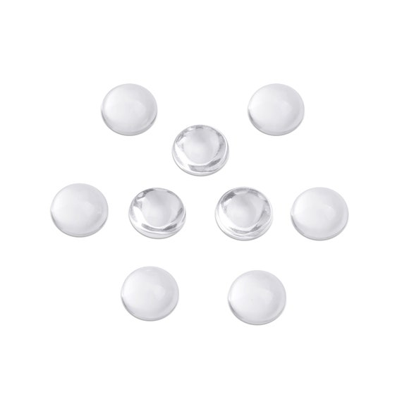 Bead Boutique 10x Cabochon Oval Clear Glass Crystal Dome Tile Flat Back ~ 18x25mm