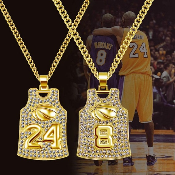 Kobe Bryant Lakers Jersey Pendant Necklace Kobe Bryant   Etsy