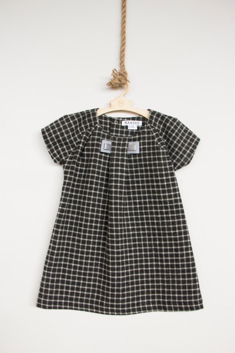 353462037e55 Grey checked woolen dress  woolen dress for baby girl  Dress