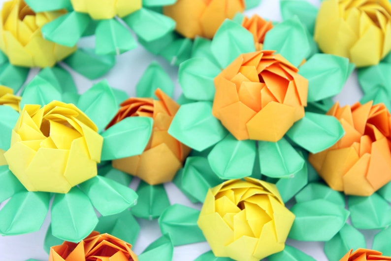 HOW TO MAKE 3D ORIGAMI LOTUS FLOWER AND BUD | DIY PAPER LOTUS ... | 529x794