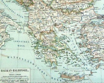 Balkans map | Etsy