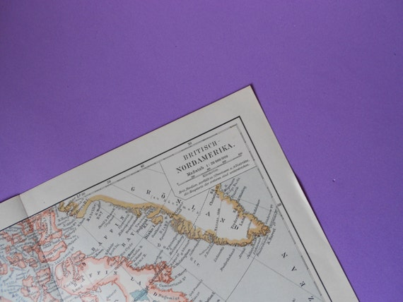 Churchill Alaska Map.1900 British North America Antique Map Alaska Yukon Etsy