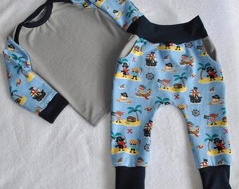 Baby Set Jungen Pumphose Hose /& Halstuch Elefanten Türkis Blau Gr.68,74,80,86