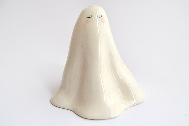Halloween Special. Ceramic Salt Cellar Ghost or Salt Shaker image 0