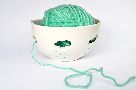 Tazón de fuente de Lana Hilo De Santa Con Juego-Crochet-Tejer-única regalo Especial