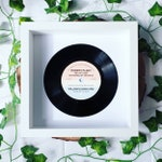 Personalised Vinyl Record Frame Wedding Gift - First Dance, Special Song, Wedding Song