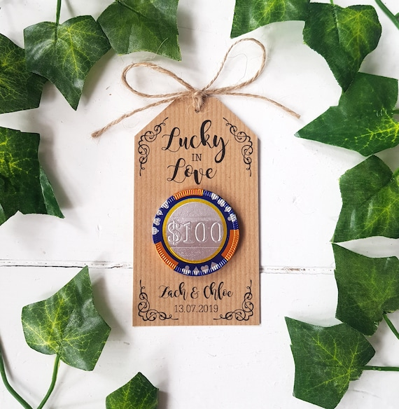 Lucky In Love Chocolate Casino Chip Wedding Favours Etsy