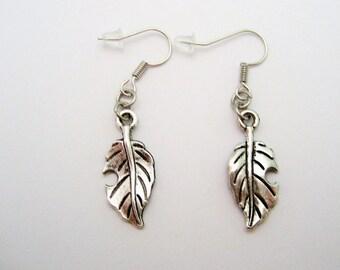 Leaf Earrings, Plant Earrings, Leaf Jewelry, Silver New Leaf Earrings, Nature Earrings, Nature Jewelry, Nature Earrings
