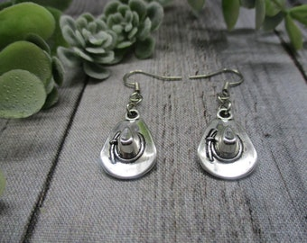 On the ranch guitarcowboy bootshat triple layer earrings