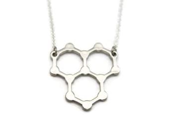 Water Necklace Molecule Necklace Science Necklace STEM Necklace  Chemistry Necklace Water Jewelry Science Jewelry Water Molecule Necklace