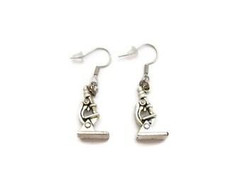 Microscope  Earrings Science Earrings STEM  Earrings Biology Earrings Chemistry Earrings Microscope Jewelry Science Jewelry Science Gifts