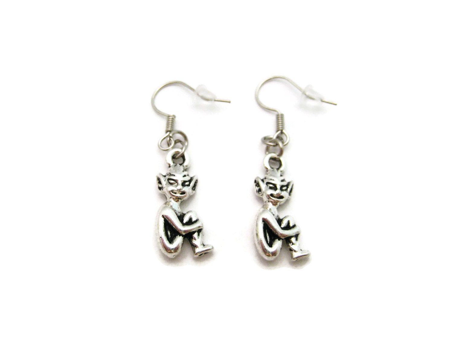 Silver Pixie Earrings Cornwall Pixie Folklore Jewelry