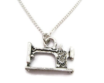 Sewing Machine Necklace Sewing Necklace Sewing Machine Jewelry Sewing Jewelry  Seamstress Necklace Seamstress Jewelry GIft For Her