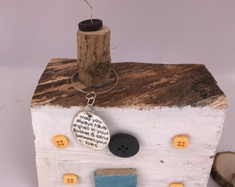 Driftwood House; beachcomber quote  Reclaimed Wooden Gift; seaside house Mother's Day Gift; Seaside cottage; New home gift