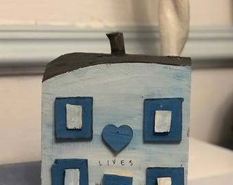 Driftwood House; Seaside cottage;  Ethical Wedding Gift; New home gift; Fifth anniversary; Housewarming gift