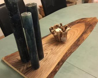 Dining table centrepiece or serving baord, made from Reclaimed elm wood