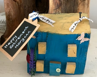 Driftwood cottage; seaside house  ; personalised for a retirement or any occcasion; new home or fifth anniversary