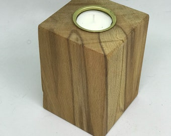Reclaimed Wooden tealight candle holder; perfect fifth anniversary gift or wedidng gift