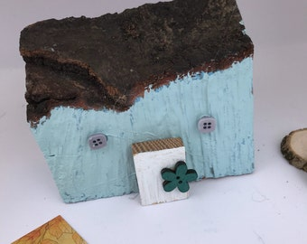 Driftwood House; Reclaimed Wooden Gift; ethical gifts, Seaside cottage; New home gift; Fifth anniversary gift, scottish gift