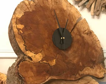 Large rustic reclaimed wooden clock , rustic clock; upcycled gift, reclaimed home decor, repurposed furniture, fifth anniversary gift, new h