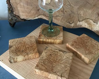 Reclaimed Wooden coasters,Reclaimed Beech.  Housewarming gift, Scottish Wooden gift, fifth anniversary, wedding gift, upcycled gift.