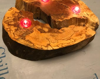 Reclaimed Wooden Candleholder; Mother's Day gift, new home or garden patio gift