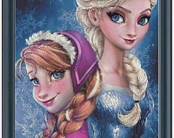 Frozen Cross Stitch Pattern Instant Download