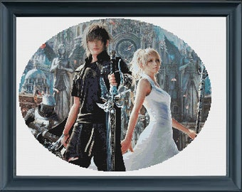 Final Fantasy XV Noctis and Luna Cross stitch pattern *Instant Download*