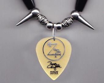Black Label Society Zakk Wylde Signature Guitar Pick Necklace - 2012 Tour BLS
