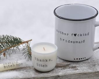 Bridesmaid proposal bridesmaid gift will you be my bridesmaid card maid of honor gift bridesmaid gift box campfire mug candle lip balm