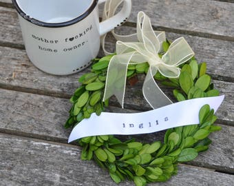 Housewarming gift basket mug boxwood wreath home decor new home gift new home gift for her house warming gift first home hostess gift basket