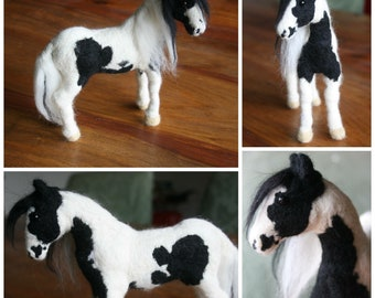 Made to order felted horse