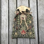 Persephone Tarot / Oracle / Keepsake Bag Lined with Antique Gold Dupion Silk