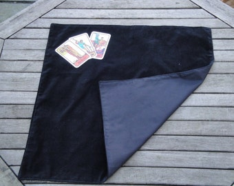 Tarot, Oracle, Rune Reading Cloth / Spread Cloth in Cotton Velvet with Cotton Lining - Made to Order - choice of colours