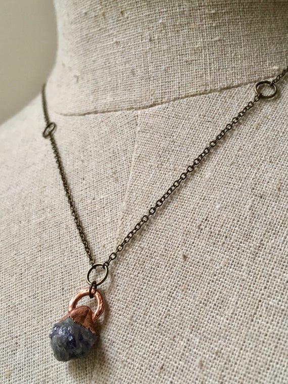 Amethyst Necklace, crystal Necklace, Electroformed Necklace, Copper Necklace, Healing Stone Necklace, LittleCanaryStudios, Citrine, purple