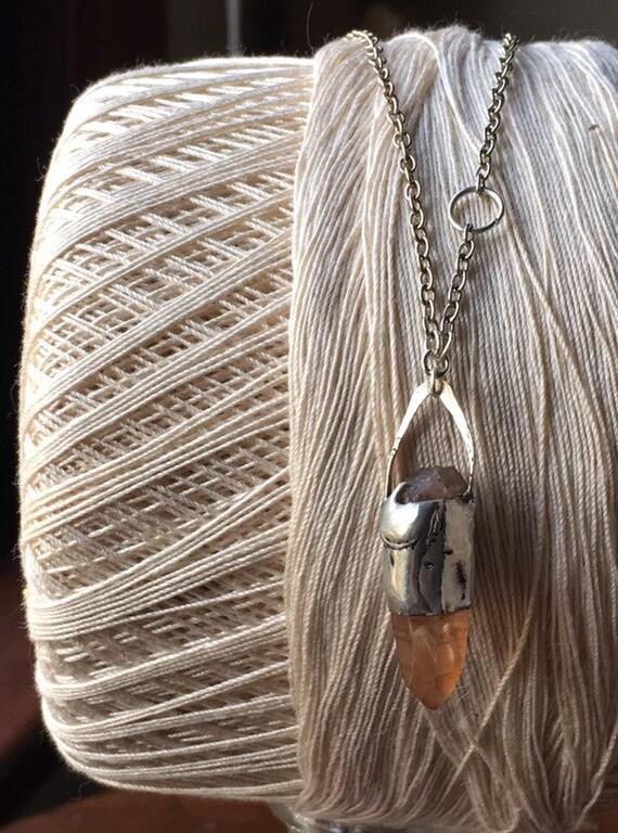 Tiffany solder Necklace, crystal necklace, crystal, silver necklace