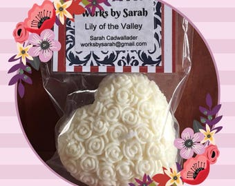 LILY of the VALLEY heart candle