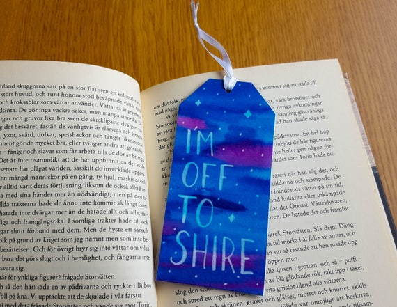 10 Inspirerende Hallen : The hobbit unique bookmark two sided tolkien art etsy