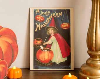 Halloween Print wooden Decoration Pumpkin Trick or Treat wooden ornament, fall decor, halloween decor laser cut unique halloween decor