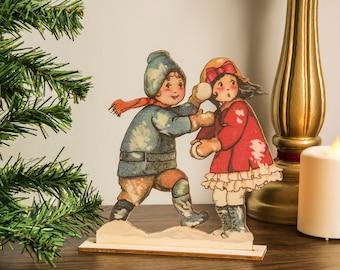 Vintage Christmas Decoration , ornament Vintage Wooden Laser cut, printed Christmas decoration victorian vintage Christmas decor