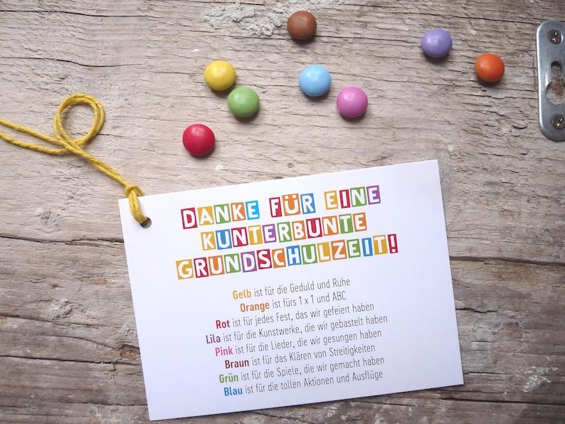 3 x Danke Abschied Grundschule Postkarte | Etsy