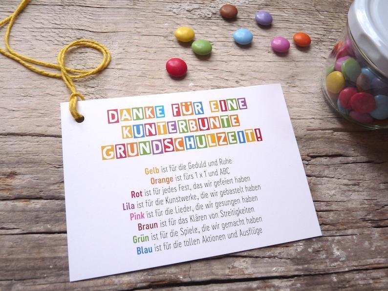 3 x Danke Abschied Grundschule Postkarte   Etsy