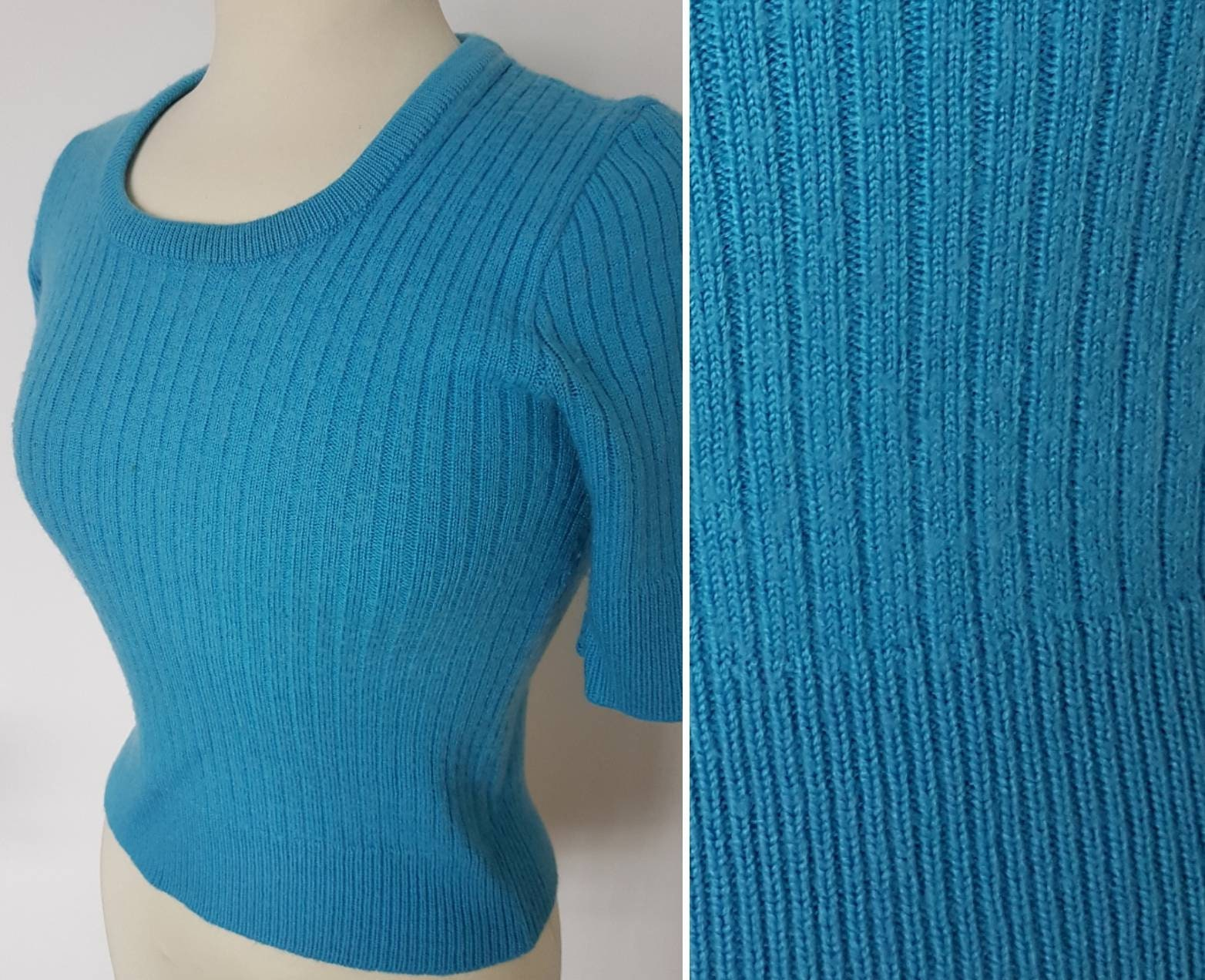 Vintage Short Sleeve Cozy Sweater