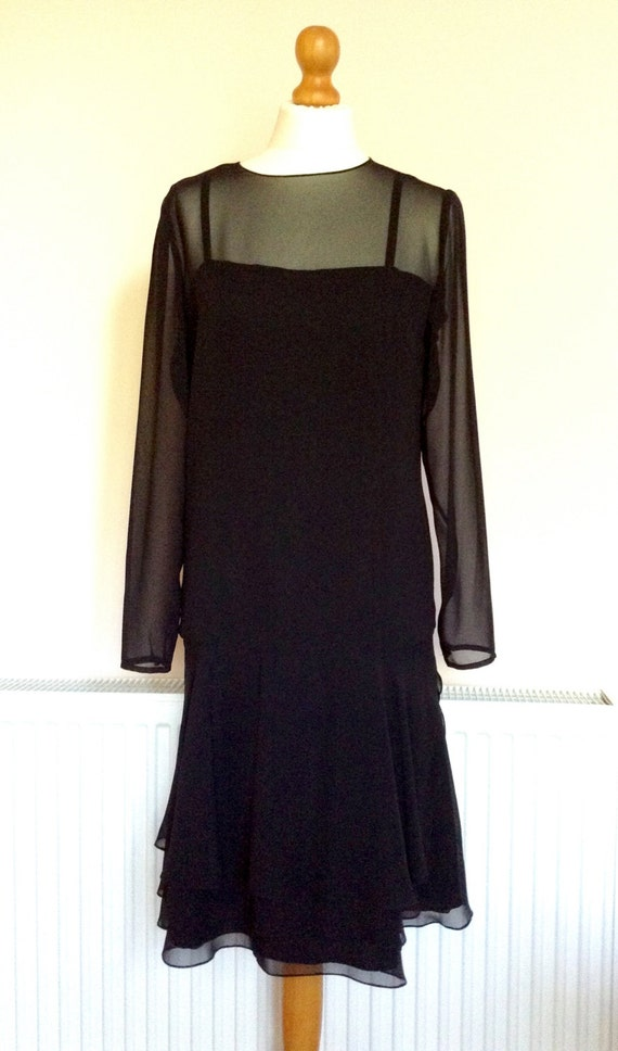Hartnell Vintage Little Black Cocktail Dress by Ha