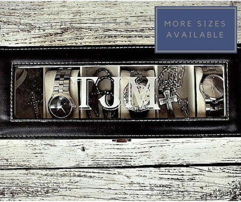 Personalized Watch Box For Men Watch Case For Man Mens Watch Box Man Watch Box Valentines Day Gift For Him Multi Sizes Avail