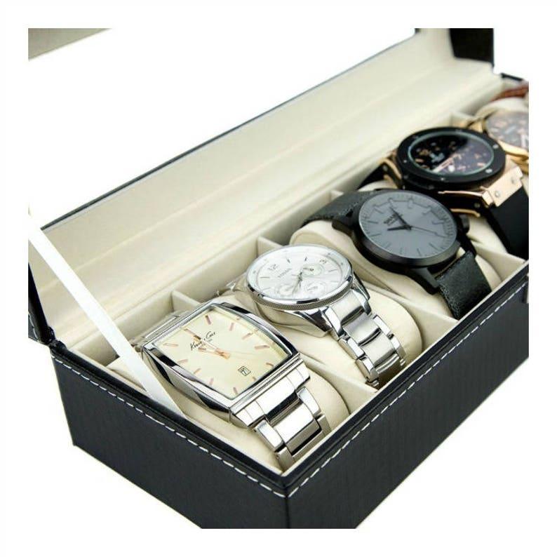 Custom Watch Box Watch Storage Case Personalized Watch Case Watch Box For Him Watch Valet Box Engraved Watch Box Leather Watch Box