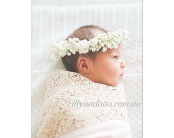 Couture lace baby swaddle in Pretty in Pink  {The Original Award Winning}