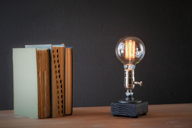 Table Lamp Desk Lamp Edison Steampunk Lamp Rustic Home