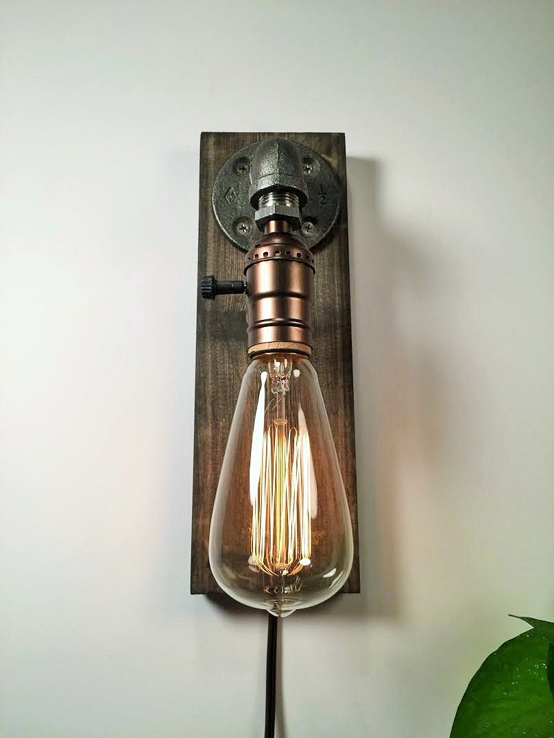 Plug In Sconce Table Lamp Wall Sconce Steampunk Lamp