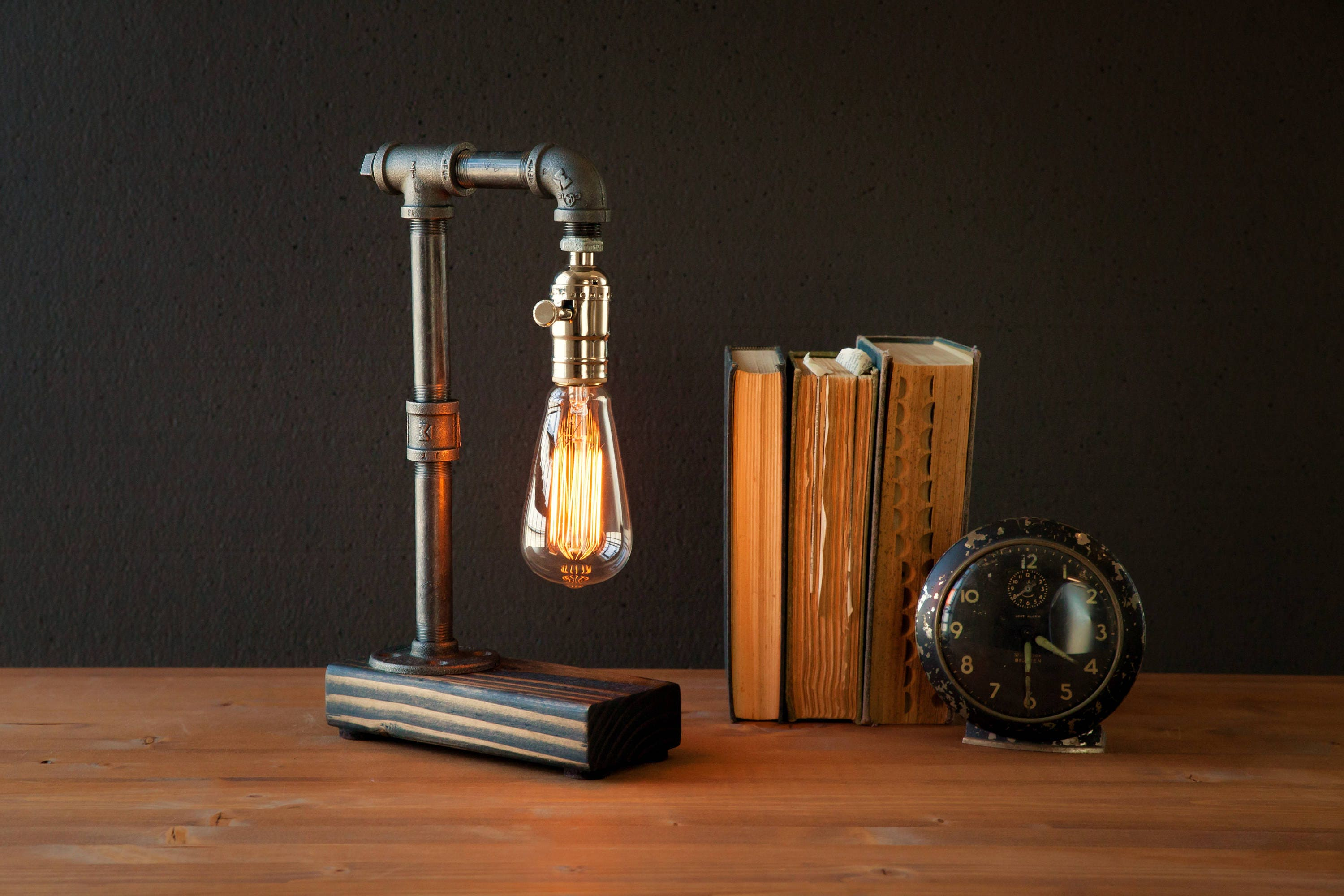 Edison Desk lamp/Rustic Home decor/Table lamp/Industrial lighting